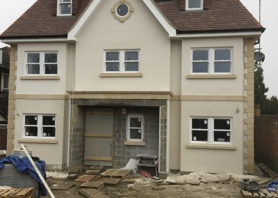 Project completed in Brookman Park. Colour;  Pral M Chalk White